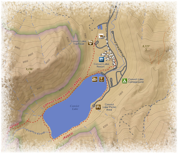 Convict Lake Map